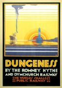 Dungeness, Kent. Vintage Romney, Hythe and Dymchurch Railway, Travel Poster by N Cramer Roberts